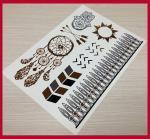 China Fake metallic temporary jewel tattoos wholesale