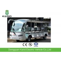 China White 14 Seats Tourist Resort Car Battery Used Electric Sightseeing Car With Sunshade wholesale