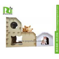 China Customized Printing Cat Dog Cardboard Playhouse / House , Cardboard Toys For Kids on sale