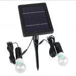 4000mAH Li-ion Battery 2pcs 3W 20LED Bulbs Solar Home Kits Indoor Lighting DC
