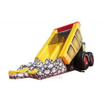 China PVC Material Children'S Inflatable Slides Heavy Dump Truck Shape With Repair Kits on sale