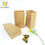 Food Grade Kraft Paper Flat Bottom Bag Biodegradable Grease Proof Snack