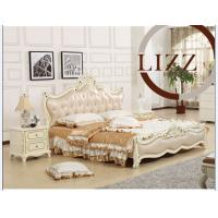 China Home Bedroom Genuine Leather Bed (A8119) on sale