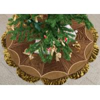 China Customized Modern Christmas Tree Skirt , Polyester / Velvet Christmas Tree Skirts wholesale