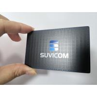 China Customized Stainless Steel Matte Black Metal Business Member Card With Color Painted Logo wholesale