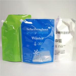 China Low Temp Spout Pouch Packaging Reusable Foldable Plastic Liquid Storage Bag 3L 5L wholesale