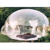 China 0.8mm clear PVC Inflatable Bubble Tent  with 2m tunnel wholesale