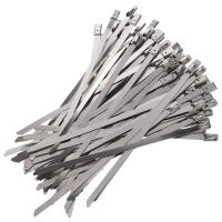 China 300 x 7.9mm Stainless Steel Roller Ball Cable Ties Pack of 50 wholesale