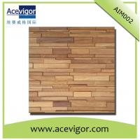 China Solid wood mosaic wall tiles with uneven surface for living room wholesale