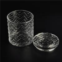 China Clear home decoration extra large glass candle holders with glass lid wholesale
