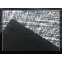 China Big Black White Tartan Double Faced Wool Coating Fabric 750g/m wholesale