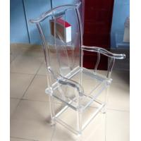 China High Transparency Crystal Acrylic Chair For Restaurant , Transparent wholesale