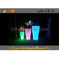 China Indoor And Outdoor LED Flower Pots With Pe Material , Remote Control Battery wholesale