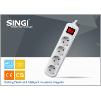 China Euro market Smart 4 gang adaptor intelligent power strips with CE certificate wholesale