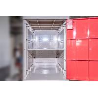 China Yellow Plastic School Lockers Four Tier Lockers With Padlock Anti UV Aging wholesale