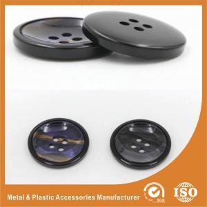 China Rainbow 32L Natural 4 Hole Genuine Horn Button For Men's Suit , shirt hidden buttons wholesale