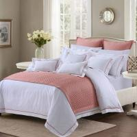 Buy cheap Soft And Sophisticated Hotel Bed Linen Queen Size With Piping Edge For from wholesalers