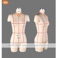 China Jume standard personalised pinnable missy half body frp dress form in multi size on sale