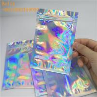 Quality Glossy Plastic Holographic Plastic Bag For Bath Salt Sea Food / Clothing Packaging for sale