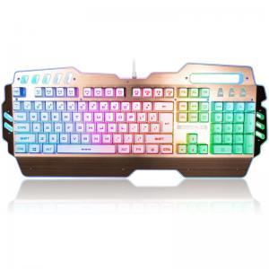 China USB 2.0 Rainbow LED Backlight Illuminated Gaming Keyboard Blue Switches 104 Keys wholesale