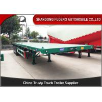 China Carbon Steel 40 Ton Flatbed Truck Trailer BPW Axle With Air Bag Suspension on sale