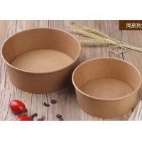 China Takeaway Disposable Paper Bowls With Lids , Kraft Brown Paper Bowls wholesale