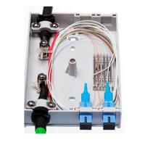 China 4 FO Outdoor Fiber Optic Junction Box , SC Simplex LC Duplex Adapters Fiber Access Terminal Box wholesale