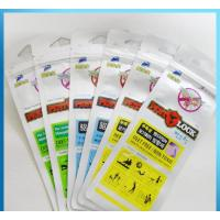 China Kids Mosquito Repellent Bracelet Grip Seal Bags 110 Micron With Hanghole wholesale