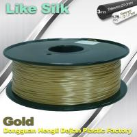 China Polymer Composites 3D Printer Filament , 1.75mm / 3.0mm , Gold Colors. Like Silk Filament wholesale