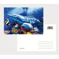 China 2021 Souvenir scenery Plastic lenticular 3D printing postcard with 3D flip effect post card printed by UV printer wholesale