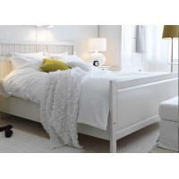 China 100% Cotton White Percale Hotel Quality Bed Linen Fitted Sheet , Pillow Cases wholesale