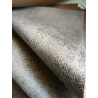 China Brown Durable Suede Leather Fabric , Faux Leather Fabric For Upholstery wholesale