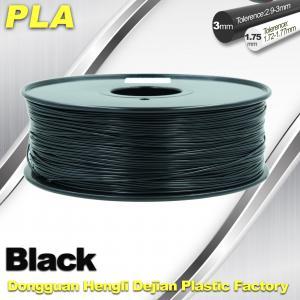 China Black  PLA 3d Printer Filament  1.75mm /  3.0mm 1.0 KG / Roll wholesale