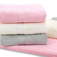 China Smooth Durable Organic Cotton Towels Popular Dobby Style Cotton Terry Towel on sale