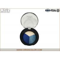 Quality Professional Makeup Eyeshadow Palette , Three colors splicing in single eye shadow plate for sale
