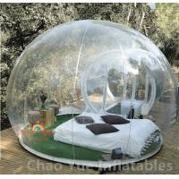 Quality 0.8mm PVC Single Tunnel Inflatable Bubble Tent for outdoor for sale