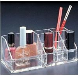 Quality Crystal Acrylic Cosmetic Display Holder , Transparent Acrylic Makeup Display Holder for sale