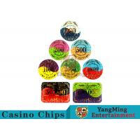 Security Promotional Casino Poker Chips With Smooth And Delicate Texture for sale