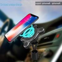 China Magnetic Fast Wireless Car Charger Holder Fashion Design 3 D Rotation on sale