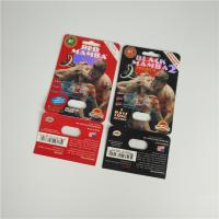 China Premier ZEN Blister Pack Packaging Metallic Silver Paper Card For Male Enhancer Capsule wholesale