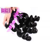 China Mink Indian Human Hair Extensions Loose Wave Thick Ends Dyed Bleached Soft on sale