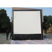 China Air Sealed Backyard Inflatable Movie Screen , Rear Projection Screen For Party wholesale