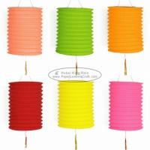 China 15 Cm Spring Garland Paper Lanterns Craft Diy Portable Handmade Christmas Ornaments wholesale