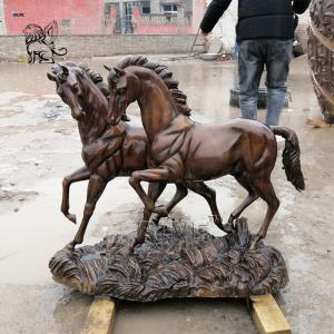 China Bronze Horse Statues Metal Horse Brass Sculpture Modern Art Garden Decoration wholesale
