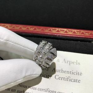 China Magnificent 18K Gold Diamond Ring , Personalized Bulgari Snake Ring AN855116 wholesale