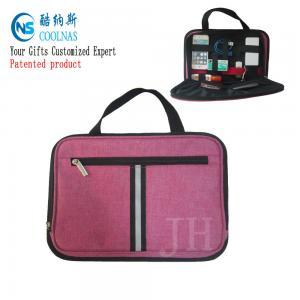 China Electronics Travel Organizer Storage Bag , Pink Gadget Case Organizer wholesale