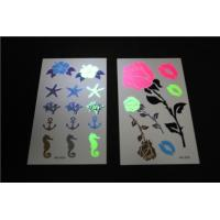 China Non Toxic Fake Neon Temporary Tattoos Stickers Waterproof Real Looking wholesale