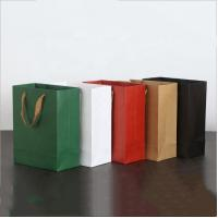 China Simple Style Gift Bags With Ribbon Handles CMYK 4 Color Offset Printing on sale