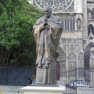 China BLVE Saint John Paul II Sculpture Bronze Statue of St. Paul II Famous Religious Catholic Pope wholesale