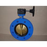 China Centric Ductile Iron Marine Flange Butterfly Valve With Gearbox on sale